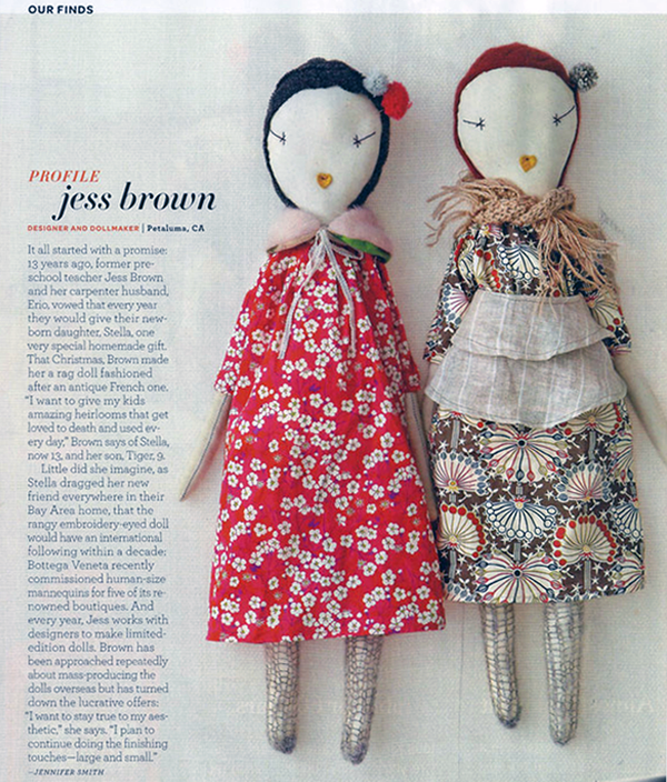 jess brown rag doll pattern