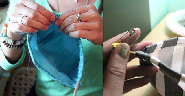 Pulling-Cord-Through-Drawstring-Channel-DIY-Drawstring-Bag