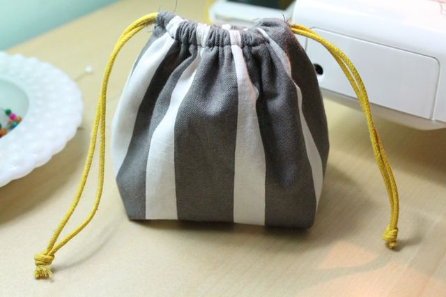 First Sewing Month Project: Easy DIY Drawstring Bag - A Dose of ...