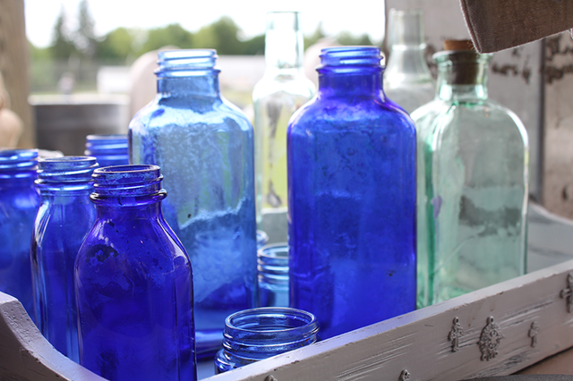 Vintage-Blue-Bottles-Country-Living-Fair-2013