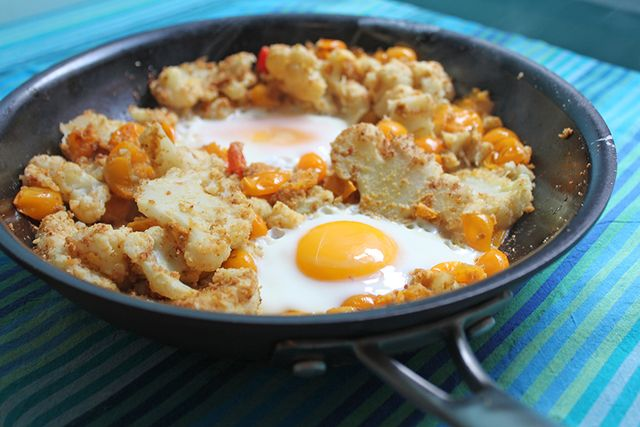 Smothered-Cauliflower-Eggs-Recipe-Food-Wine-Gluten-Free
